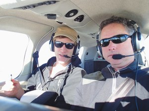 LAWR Professor Ian Faloona (left) with research colleague and pilot Stephen Conley