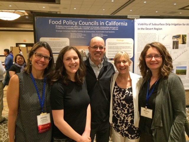 Dave Campbell, center, with UC colleagues Jennifer Sowerwine, Julia Van Soelen Kim, Gail Feenstra, and Shosha Capps.