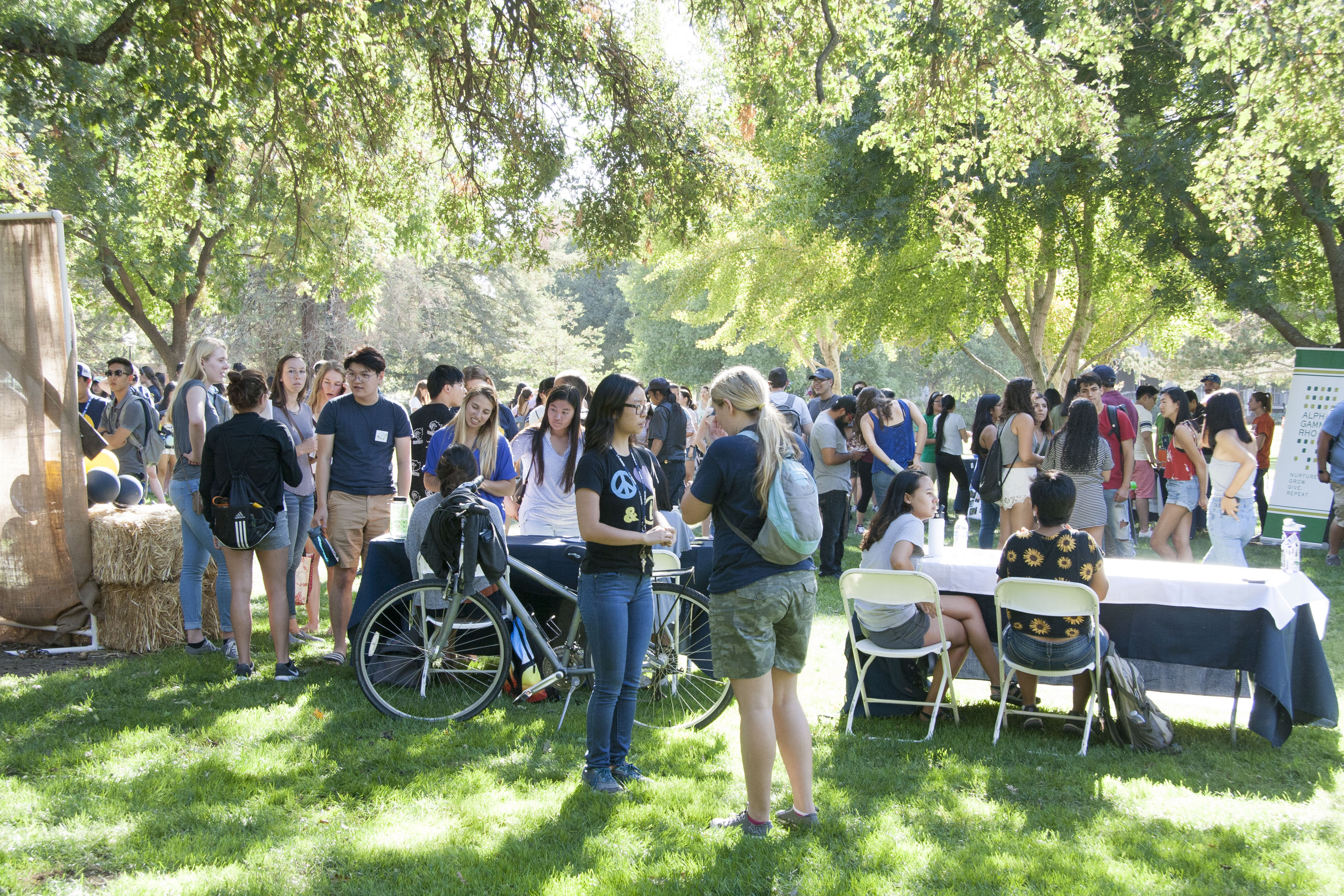 Events sponsored by the college, such as the annual ice cream social, help build a sense of community for our students.