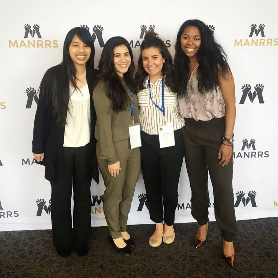 UC Davis students Shannon Chee, Guadalupe Peña , Juliana Candelaria and Carmen Banks participated in the national MANRRS conference held recently in Overland Park, Kansas.