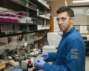 Sunjay Sethi's quick grasp of environmental toxicology is helping advance knowledge of chemicals that may be linked to diabetes and obesity. (Photo: John Stumbos)
