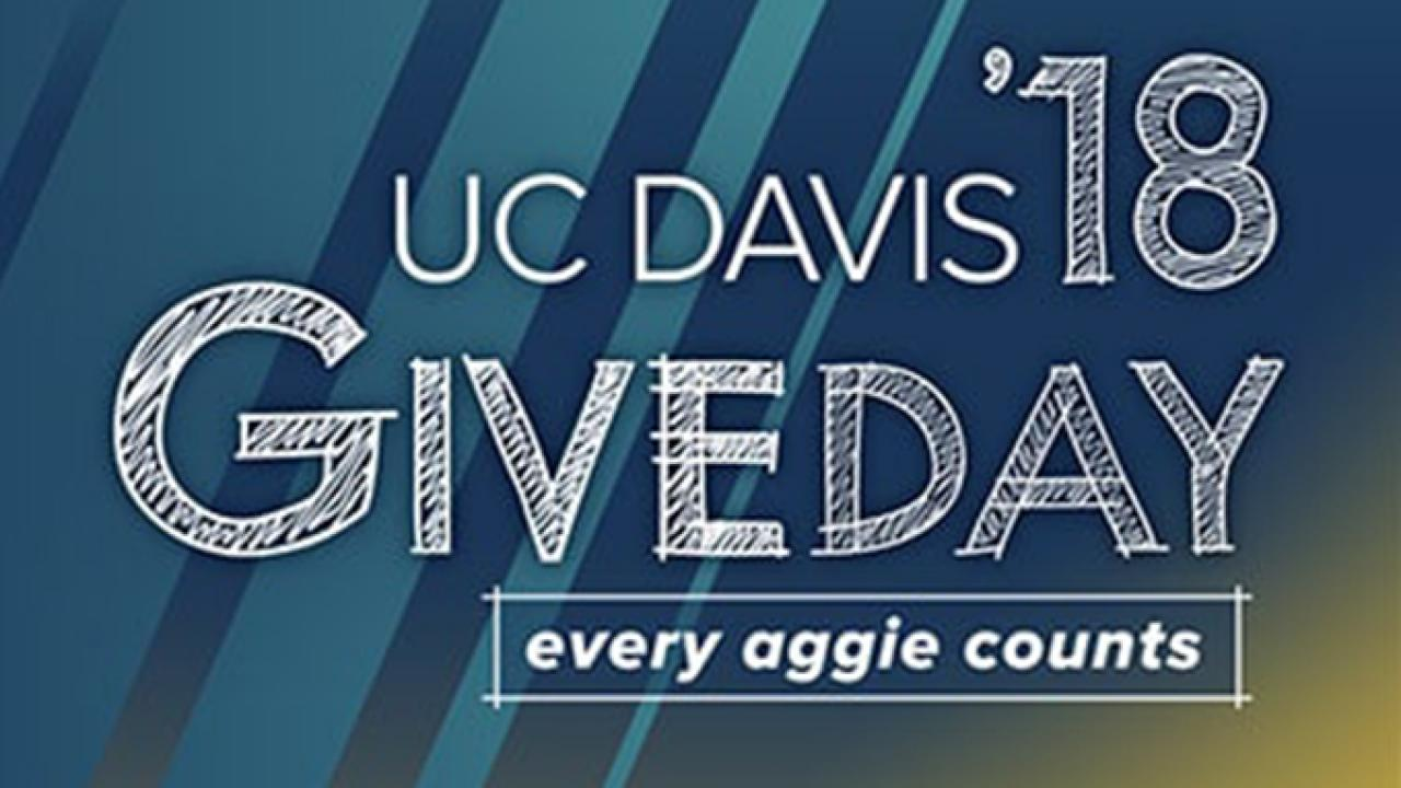 poster for UC Davis giveday