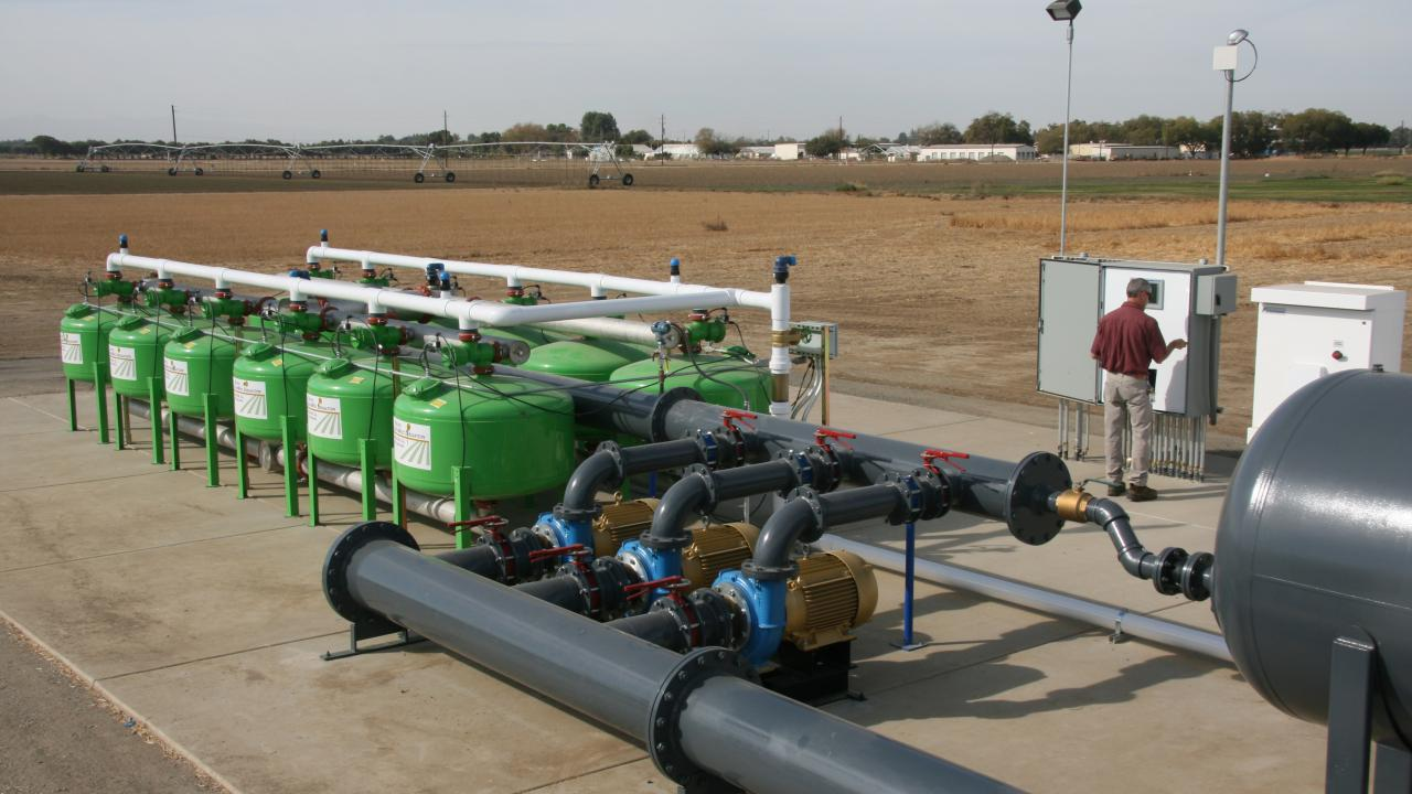 The new irrigation system provide 3,000 gallons of water a minute at 50 psi pressure.