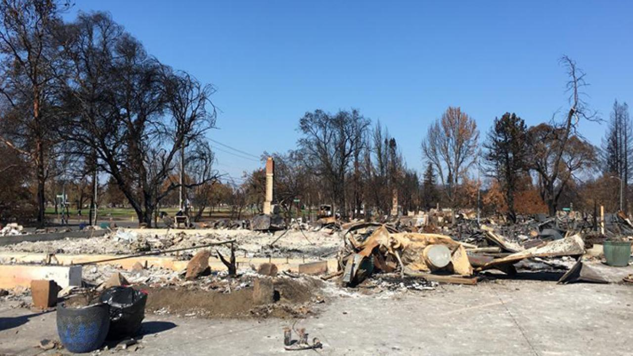 Aftermath of Sonoma Fire