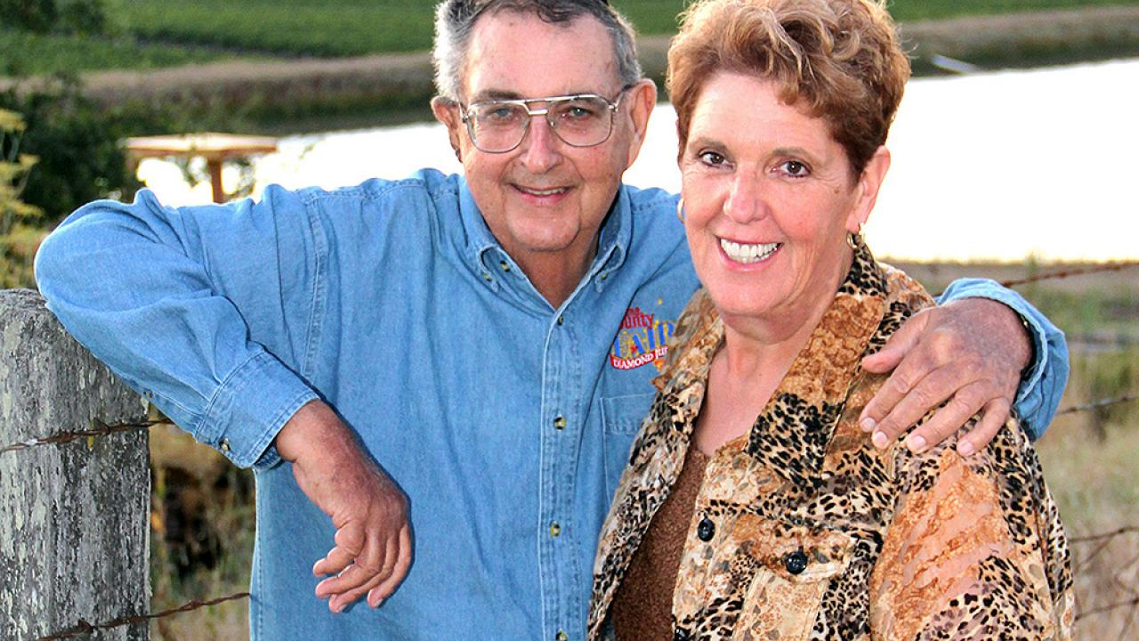 Rich Kunde with his late wife, Saralee Kunde. (Photo courtesy Steven Knudsen | Sonoma County Farm Bureau)