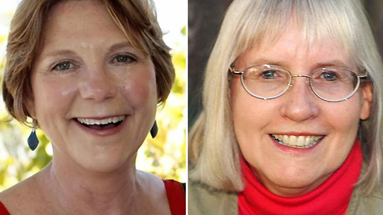 Diane Nelson (left) and Kathy Keatley Garvey will receive their awards in June at the ACE conference in Charleston, S.C. (UC Davis)