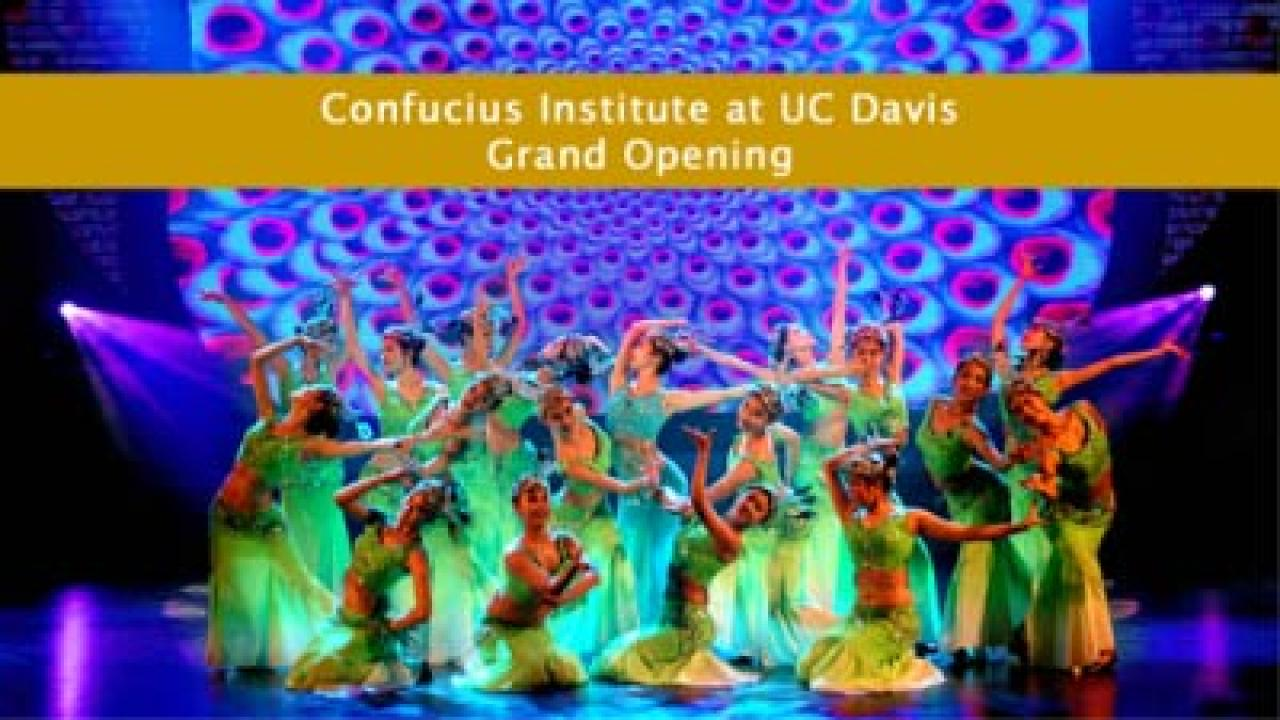 Award-winning students from Jiangnan University perform a style of dancing known as Dai Dancing and will perform at the grand opening of the Confucius Institute at UC Davis on September 16, 2013.