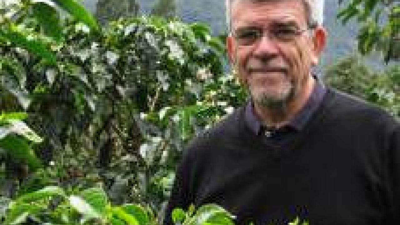 Professor Juan Medrano, UC Davis Department of Animal Science, will study coffee genetics.