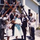 Karen Zamudio's parents loved the outdoors, so they were greeted with a wedding arch of skis after they tied the knot in 1956.