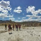 A group of ecology graduate students on an orientation trip to Mono Lake in the eastern Sierra Nevada in September 2014. The new Master of Science in Environmental Planning and Management will add to the ranks of graduate students starting next fall. (Michael Koontz/UC Davis)