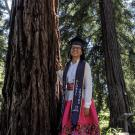 Maria Arteaga, a managerial economics major and technology management minor, at the UC Davis Arboretum and Public Garden.