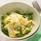 Fresh Rag Pasta with Peas and Asparagus