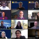 2020 New faculty and cooperative extension specialists meet via zoom.