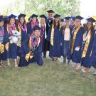 Jim Fadel with UC Davis graduates.