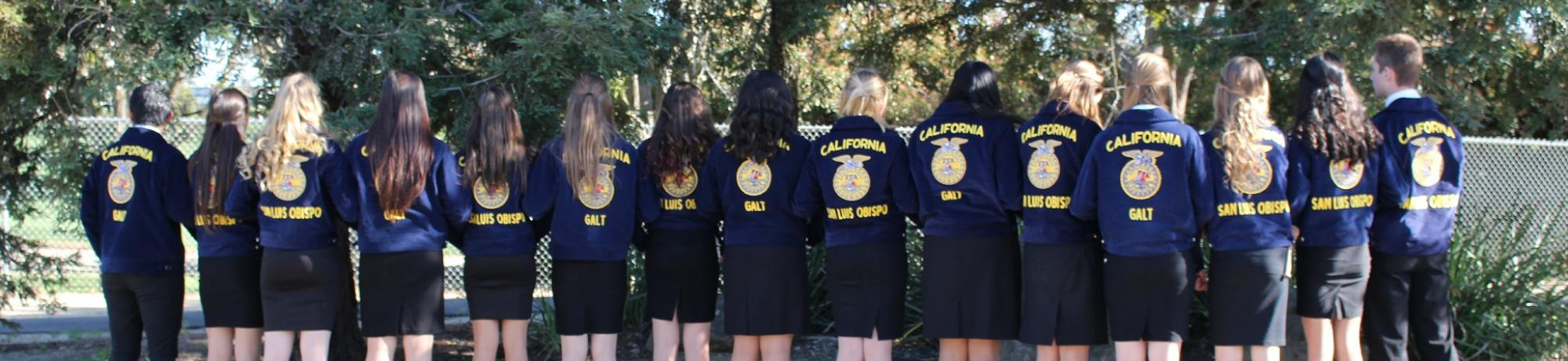 FFA Students in Competition Uniform